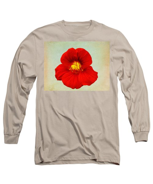 Daylily On Texture Long Sleeve T-Shirt