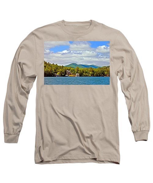 Distant Lake View In Spring Long Sleeve T-Shirt