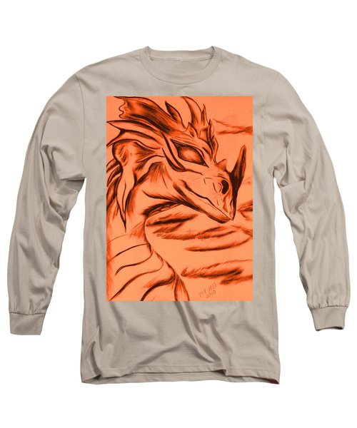 Dragon In Color Long Sleeve T-Shirt by Maria Urso