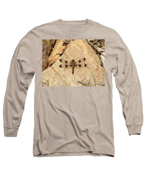 Long Sleeve T-Shirt featuring the photograph Dragonfly At Rest by Deniece Platt