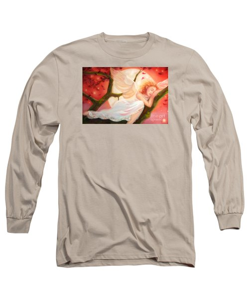 Long Sleeve T-Shirt featuring the painting Dreams Of Strawberry Moon by Michael Rock