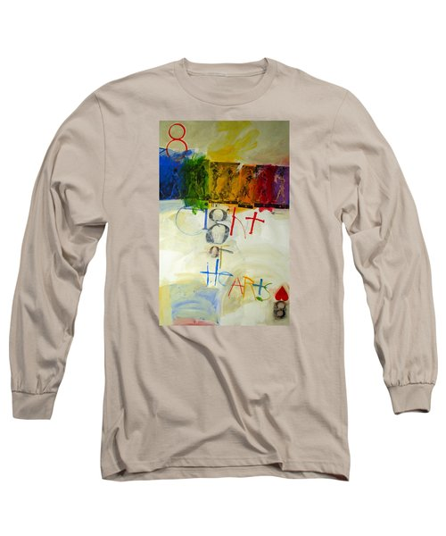 Long Sleeve T-Shirt featuring the painting Eight Of Hearts 34-52 by Cliff Spohn