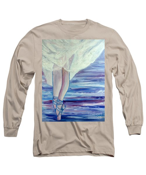 Long Sleeve T-Shirt featuring the painting En Pointe by Julie Brugh Riffey