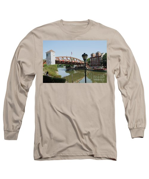 Long Sleeve T-Shirt featuring the photograph Fairport Lift Bridge by William Norton