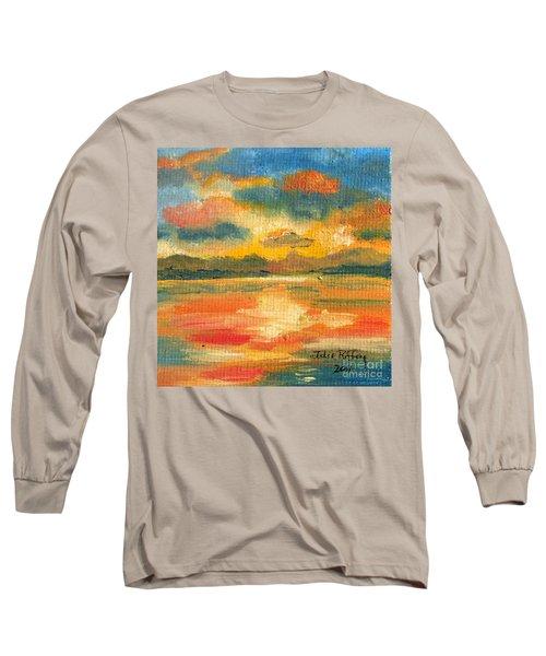 Fiery Sunset Long Sleeve T-Shirt by Julie Brugh Riffey