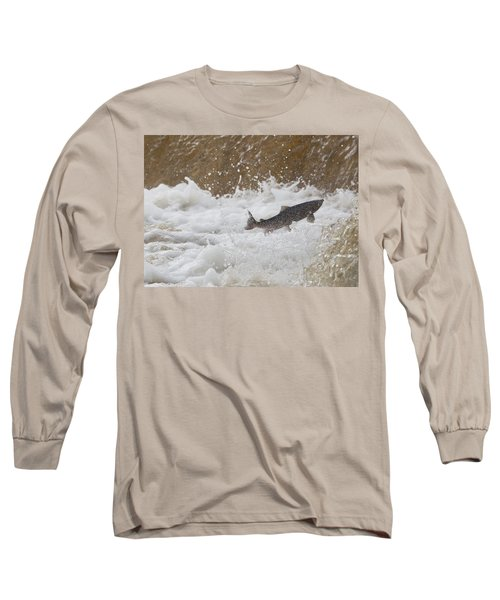 Fish Jumping Upstream In The Water Long Sleeve T-Shirt