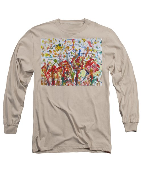 Long Sleeve T-Shirt featuring the painting Floral Feel by Sonali Gangane