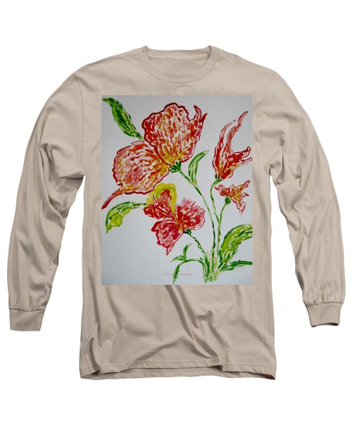 Long Sleeve T-Shirt featuring the painting Florals by Sonali Gangane