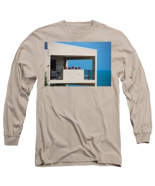 Long Sleeve T-Shirt featuring the photograph Flower Pots Five by John Schneider