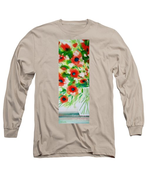 Flowers In A Glass Long Sleeve T-Shirt