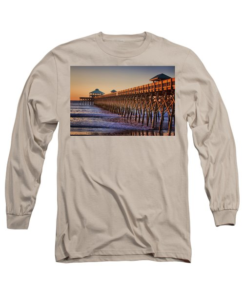 Folly Beach Pier Long Sleeve T-Shirt