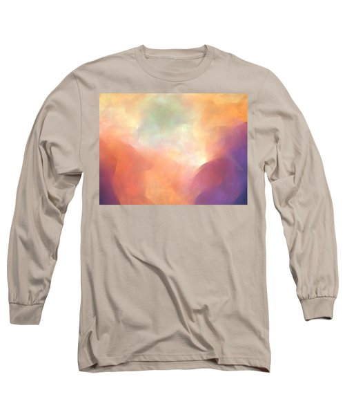 Fractal Goes Abstract Long Sleeve T-Shirt