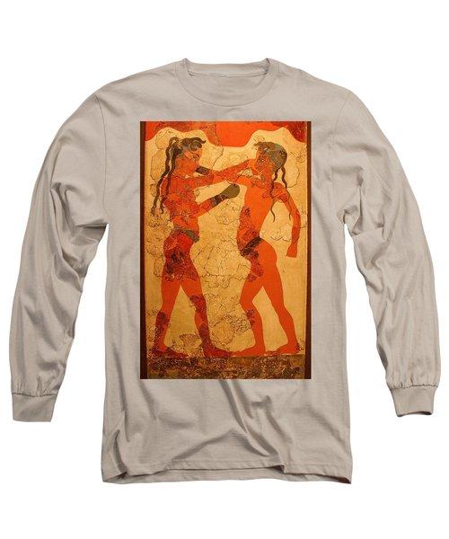 Fresco Of Boxing Children Long Sleeve T-Shirt