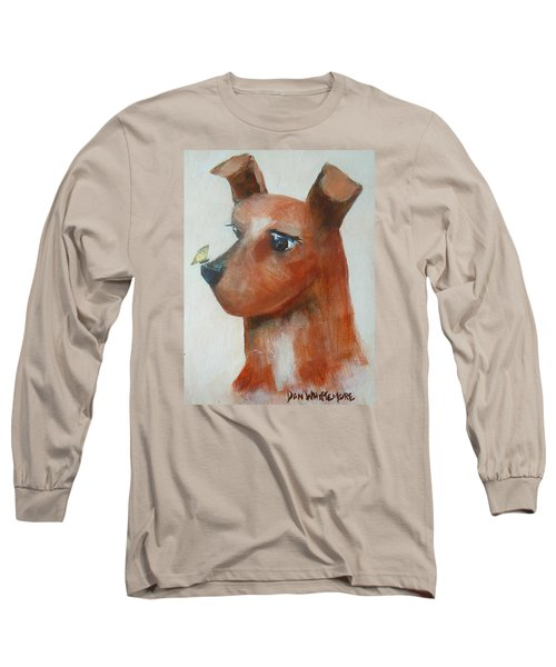 Long Sleeve T-Shirt featuring the painting Friends Are Friends by Dan Whittemore