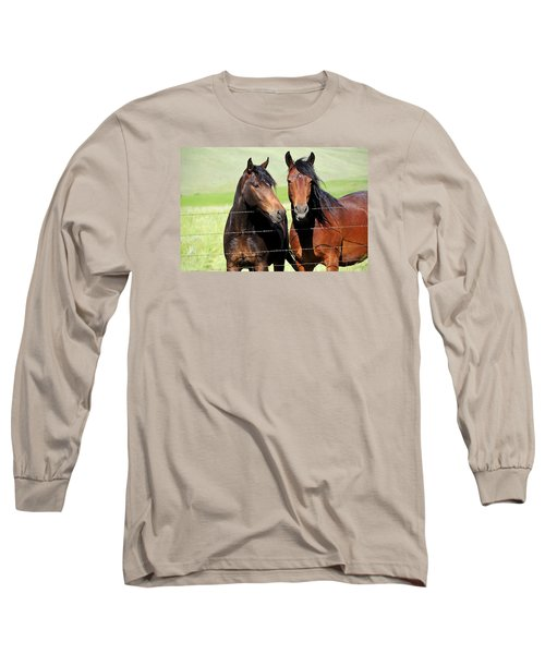 Long Sleeve T-Shirt featuring the photograph Friends by Fran Riley