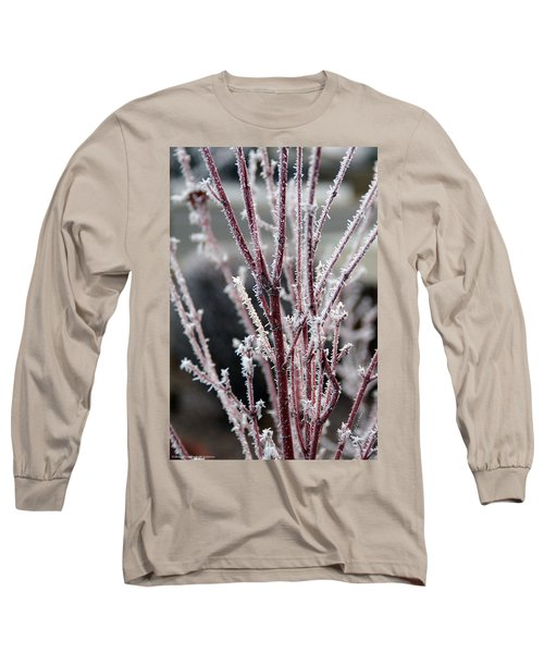 Frosty Coral Maple Long Sleeve T-Shirt by Mick Anderson