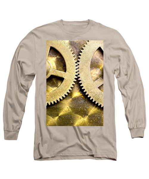 Long Sleeve T-Shirt featuring the photograph Gears From Inside A Wind-up Clock by John Short