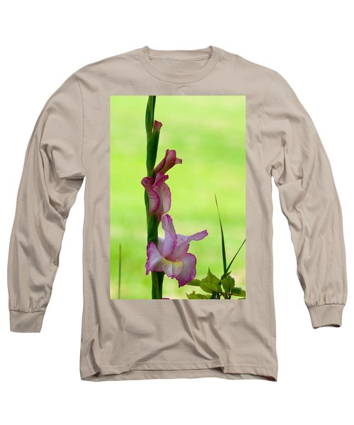 Long Sleeve T-Shirt featuring the photograph Gladiolus Blossoms by Ed Gleichman