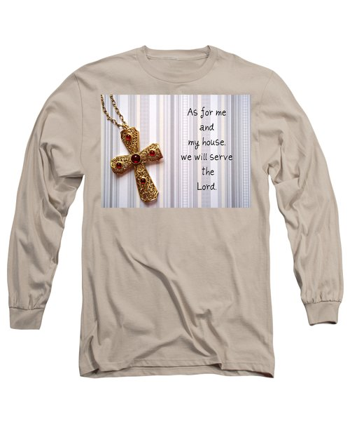 Long Sleeve T-Shirt featuring the jewelry Gold Cross by Cynthia Amaral