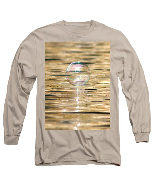 Golden Bubble Long Sleeve T-Shirt by Cathie Douglas