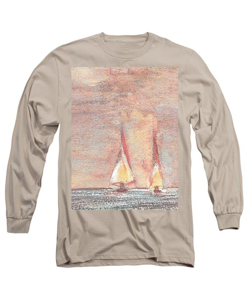 Golden Sails Long Sleeve T-Shirt by Richard James Digance