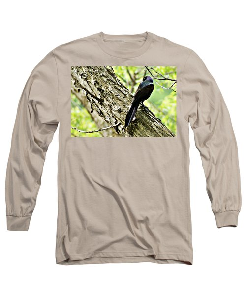 Grackle 1 Long Sleeve T-Shirt by Joe Faherty