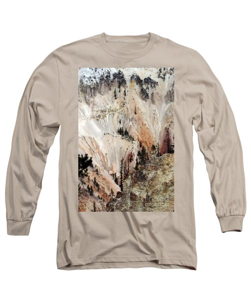 Grand Canyon Of Yellowstone Vertical Long Sleeve T-Shirt by Living Color Photography Lorraine Lynch
