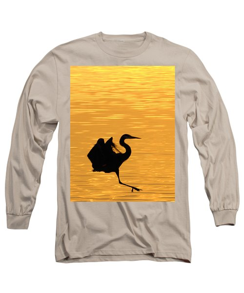 Long Sleeve T-Shirt featuring the photograph Great Blue Heron by Randall Branham