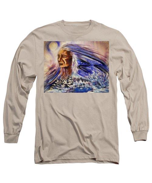 Great Father - Winter Long Sleeve T-Shirt by Karen  Ferrand Carroll