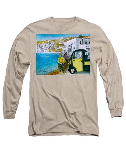 Greek Island Of Mykonis Long Sleeve T-Shirt