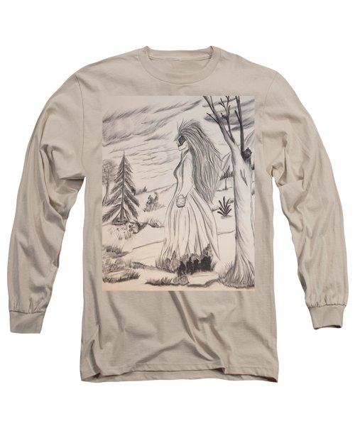 Halloween Witch Walk Long Sleeve T-Shirt by Maria Urso