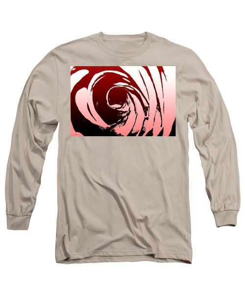 Long Sleeve T-Shirt featuring the photograph Heart Of The Rose by Lauren Radke