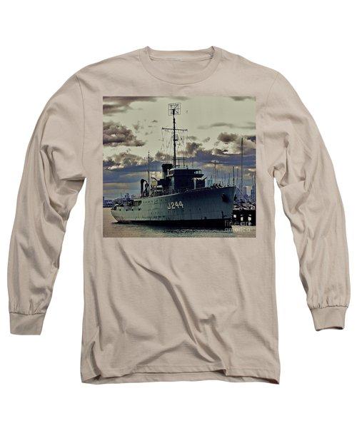 Long Sleeve T-Shirt featuring the photograph Hmas Castlemaine 1 by Blair Stuart