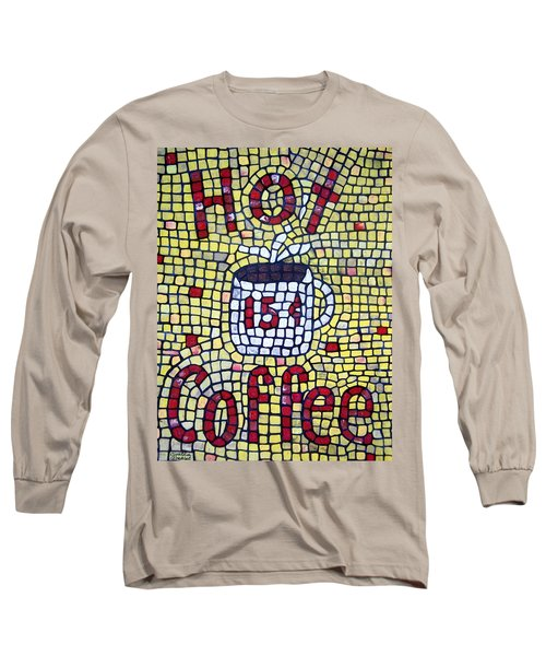Long Sleeve T-Shirt featuring the painting Hot Coffee by Cynthia Amaral