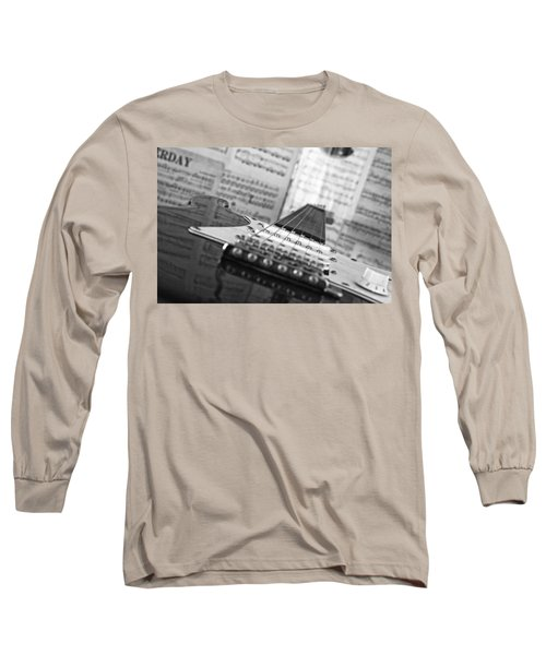 Ibanez Six String Black And White Long Sleeve T-Shirt