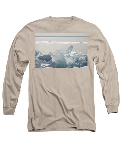 Ice Chunks On The Shores Of Lake Long Sleeve T-Shirt