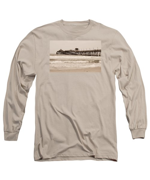Long Sleeve T-Shirt featuring the photograph Imperial Beach by Rima Biswas