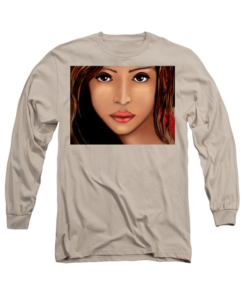 Jessica Alba Version 2 Long Sleeve T-Shirt by Mathieu Lalonde