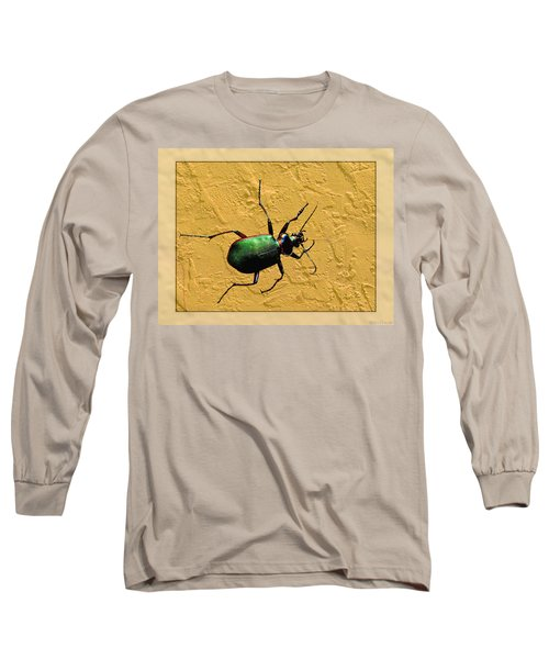 Long Sleeve T-Shirt featuring the photograph Jeweltone Beetle by Debbie Portwood