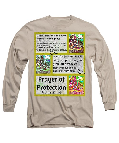 Jewish Prayer Of Protection City Of Jerusalem Gold Long Sleeve T-Shirt