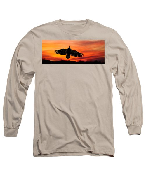 Long Sleeve T-Shirt featuring the photograph Juvenile Sunset  by Randall Branham