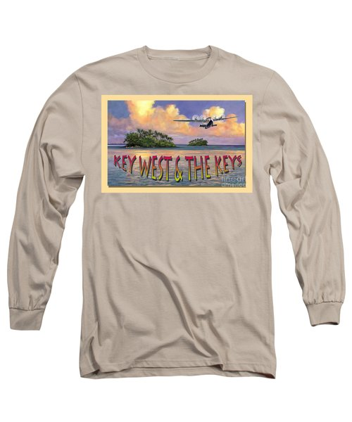 Long Sleeve T-Shirt featuring the painting Key West Air Force by David  Van Hulst
