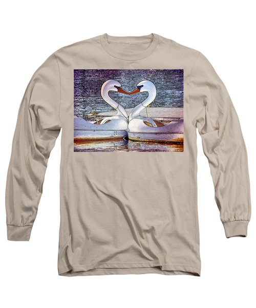Long Sleeve T-Shirt featuring the photograph Kissing Swans by Alice Gipson