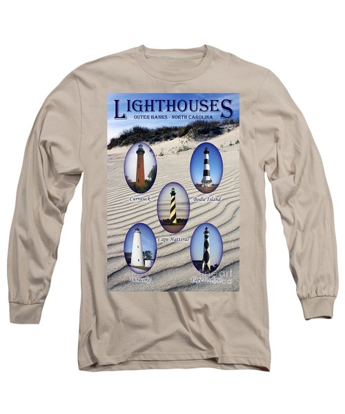 Long Sleeve T-Shirt featuring the photograph Lighthouses Of The Outer Banks by Tony Cooper