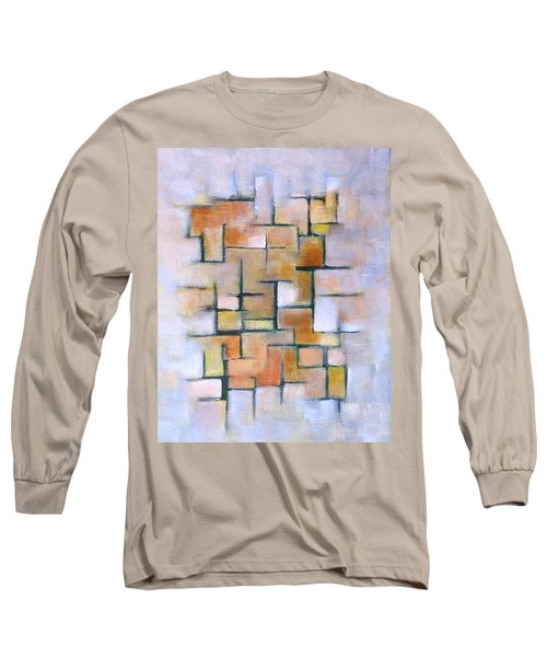 Long Sleeve T-Shirt featuring the painting Line Series by Patricia Cleasby
