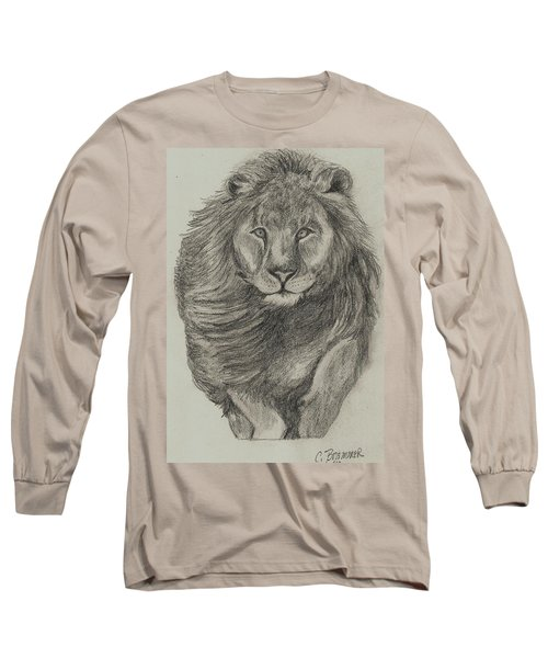 Lion Long Sleeve T-Shirt by Christy Saunders Church