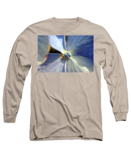 Little Blue Flower Long Sleeve T-Shirt by Kay Lovingood