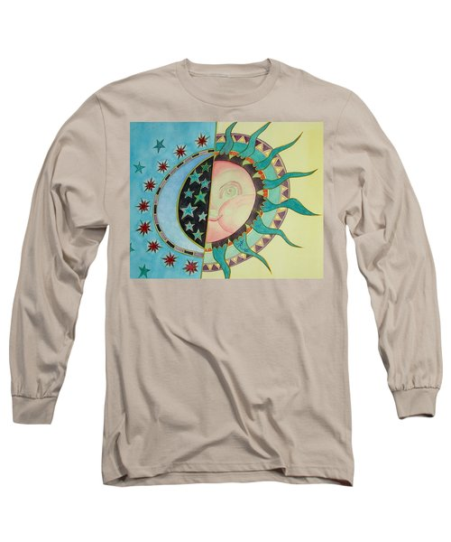 Long Sleeve T-Shirt featuring the painting Love You Day And Night by Anna Ruzsan