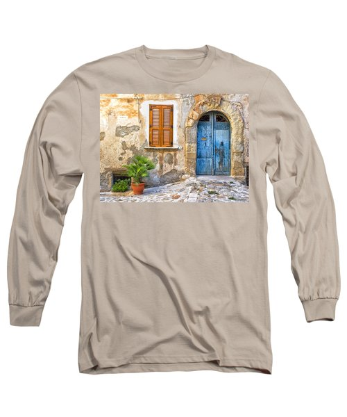 Mediterranean Door Window And Vase Long Sleeve T-Shirt
