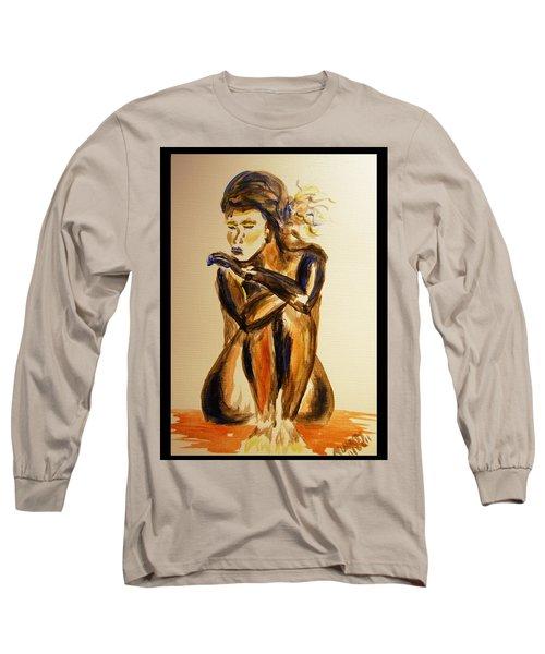 Melancholy Long Sleeve T-Shirt by Angela Murray